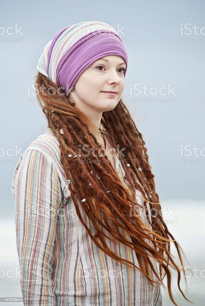 Beautiful Young Woman With Dreadlocks Stock Photo   More Pictures of ... 73c084d50caf