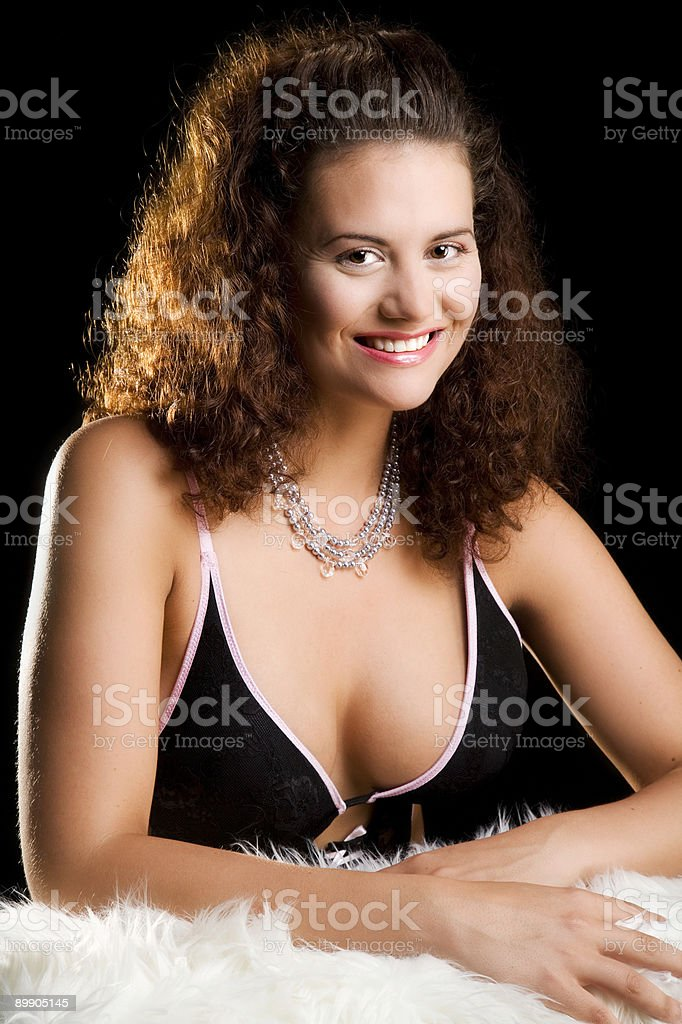 Beautiful young woman with necklace royalty-free stock photo