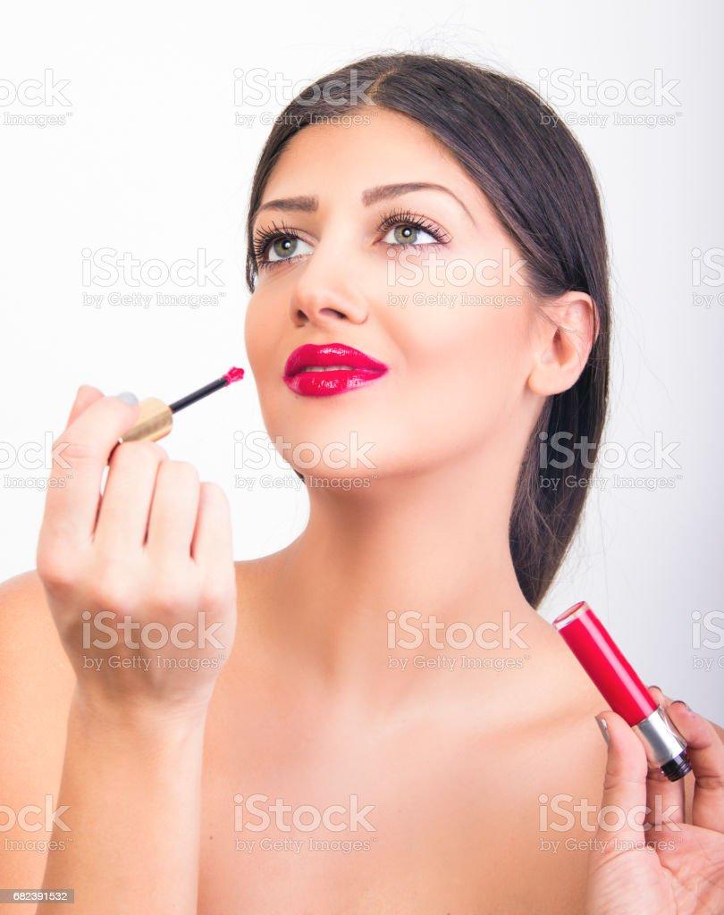 lippenstift zu blauen augen