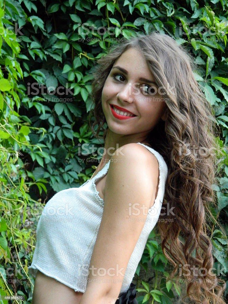 Schöne rumänische Frau