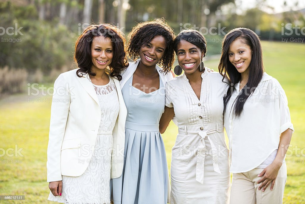 Beautiful Young Women of African descent stock photo