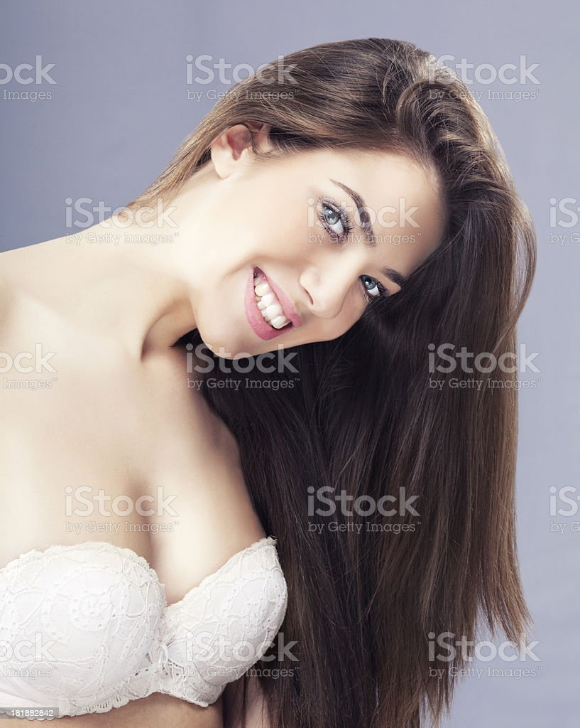 Beautiful Young Women with long hair royalty-free stock photo