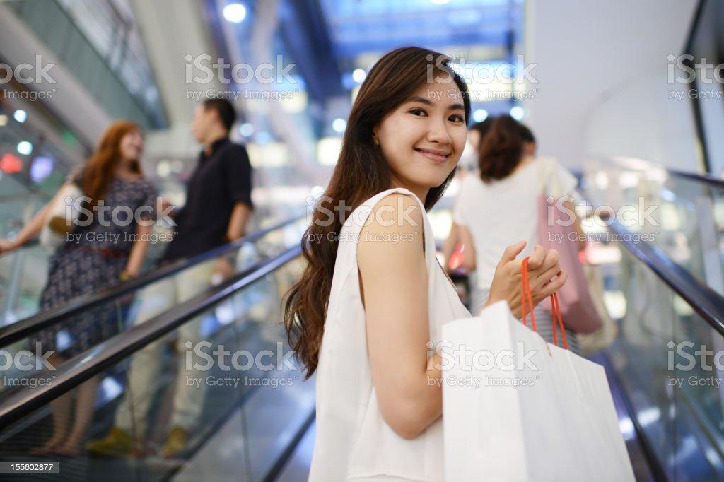 Beautiful Young Women With Shopping Bag - XXXLarge stock photo