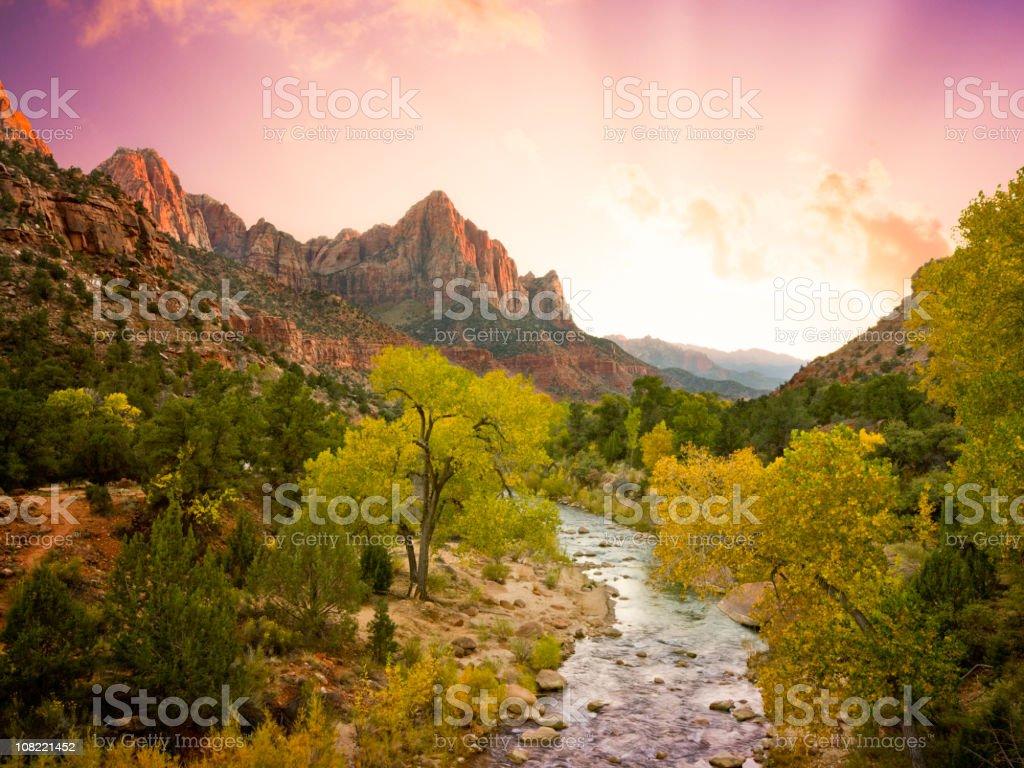 Beautiful Zion National Park Landscape (XXL) stock photo