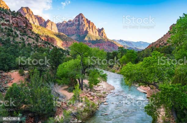 Photo of beautiful Zion national park on sunny day,utah,usa.
