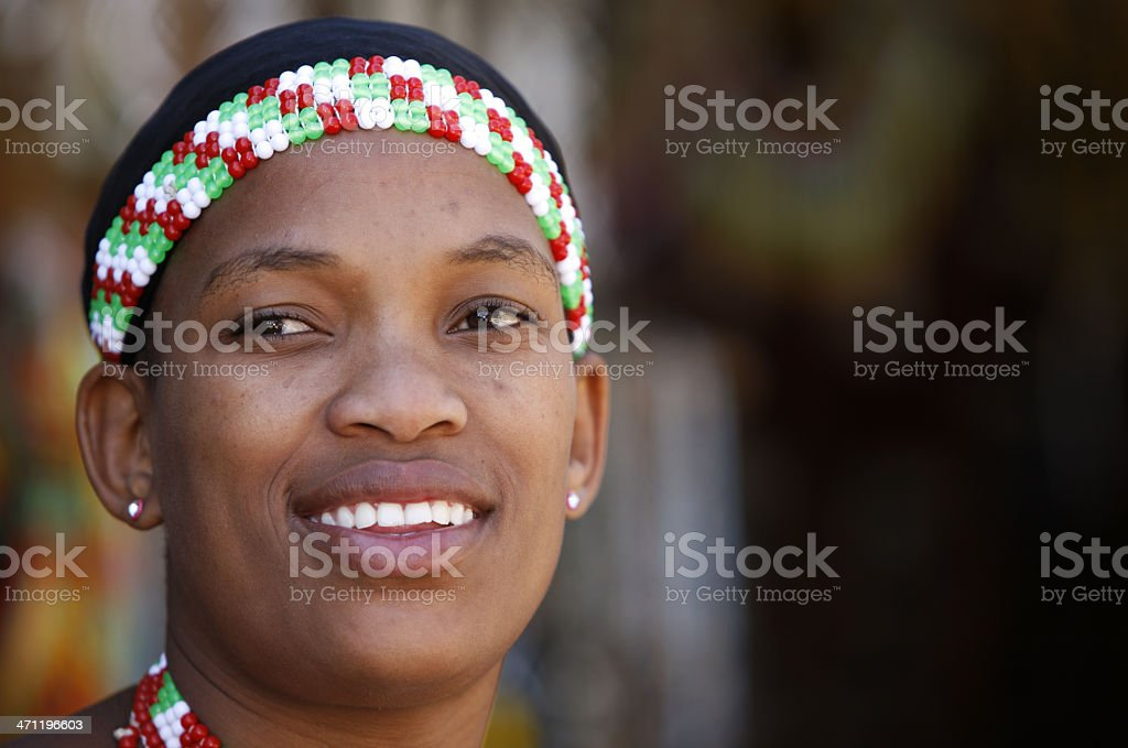 Beautiful Zulu woman from South Africa royalty-free stock photo