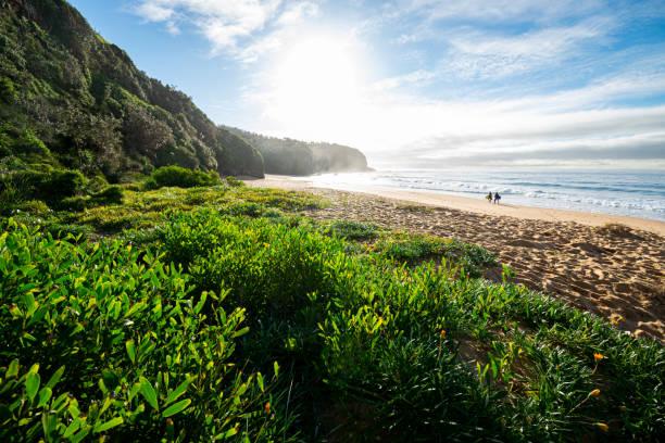 Beautiful_unspoilt_beach_early_morning stock photo