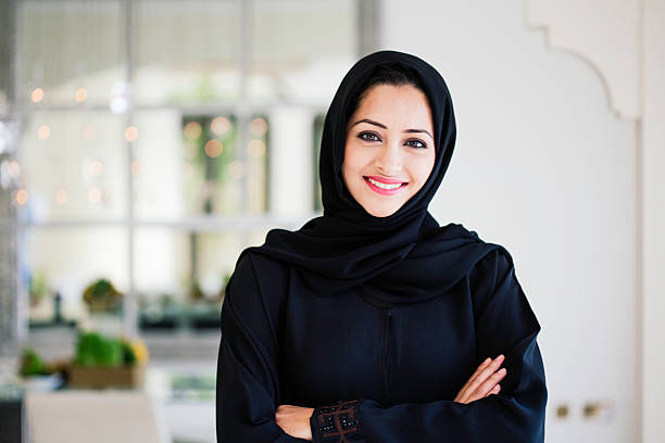 Beautifule middle eastern woman in Hijab. One young woman looking at camera. arabia stock pictures, royalty-free photos & images