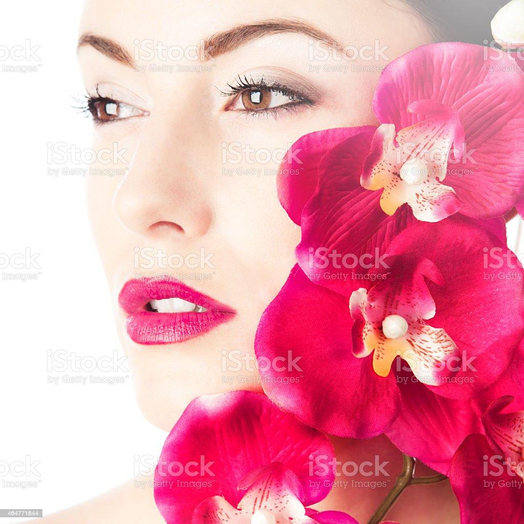 Beautifull Beauty girl makeup stock photo
