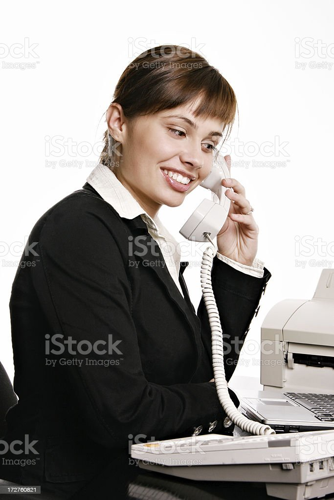 Beautifull businesswoman talking on the phone royalty-free stock photo