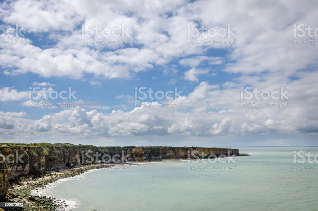 Beautifull coast at point du hoc in Normandy stock photo