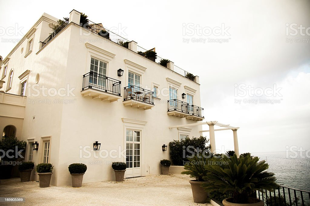 Beautifull house at Capri island stock photo