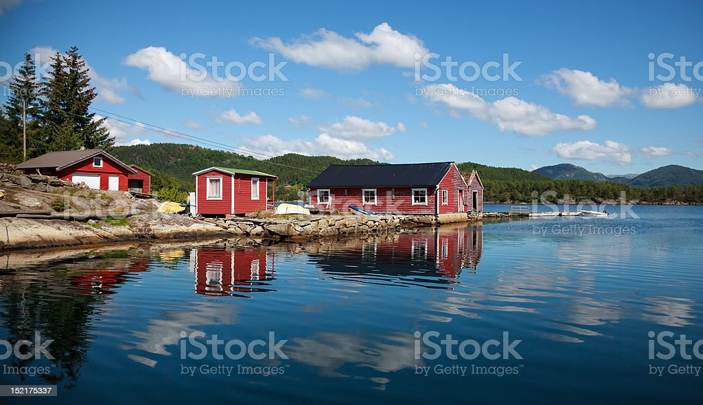 Beautifull Norway, Ships and the boathouse royalty-free stock photo