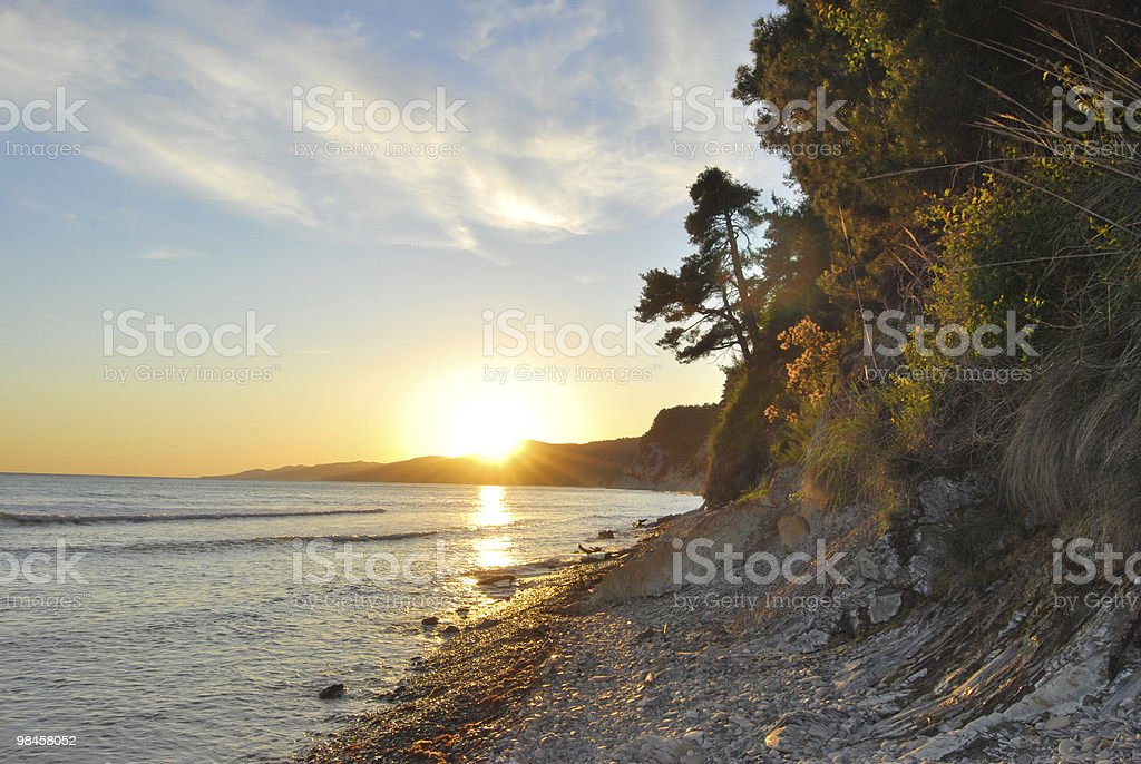 Beautifull sunset at the sea royalty-free stock photo