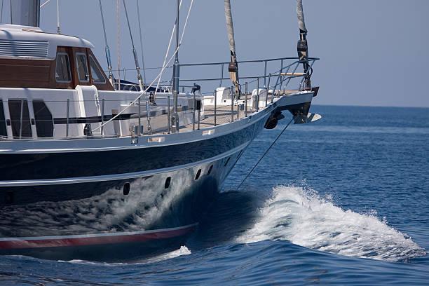 Wunderschöner yacht full – Foto
