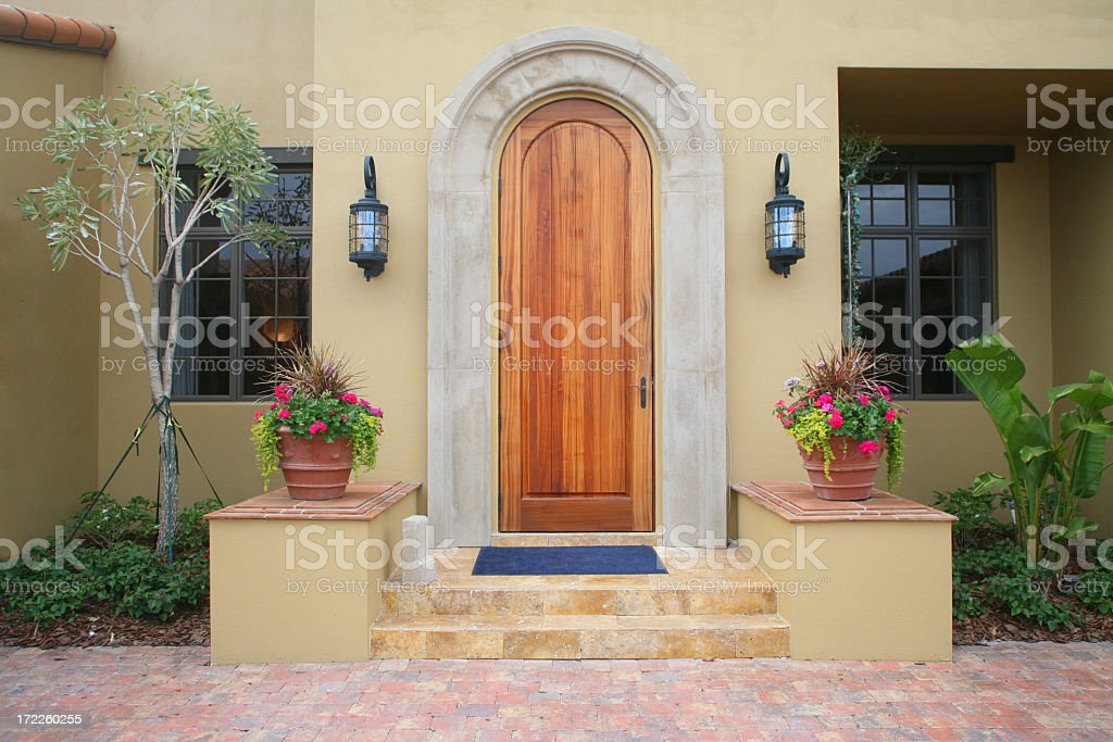 Beautifully arched wooden entry  royalty-free stock photo