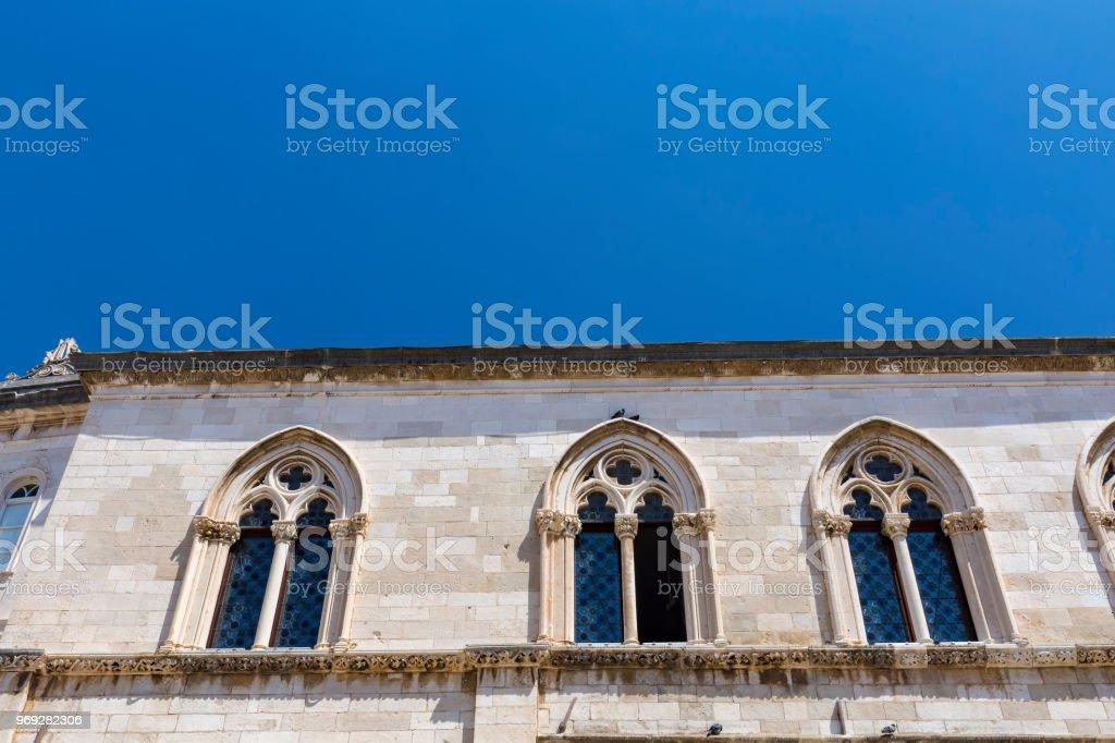 Beautifully Carved Windows stock photo