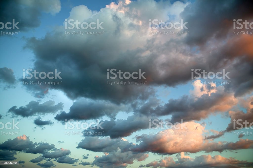 beautifully colored clouds at sunset royalty-free stock photo