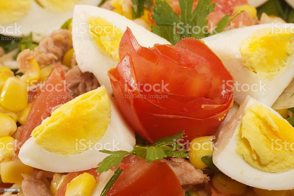 Beautifully Decorated Salad royalty-free stock photo