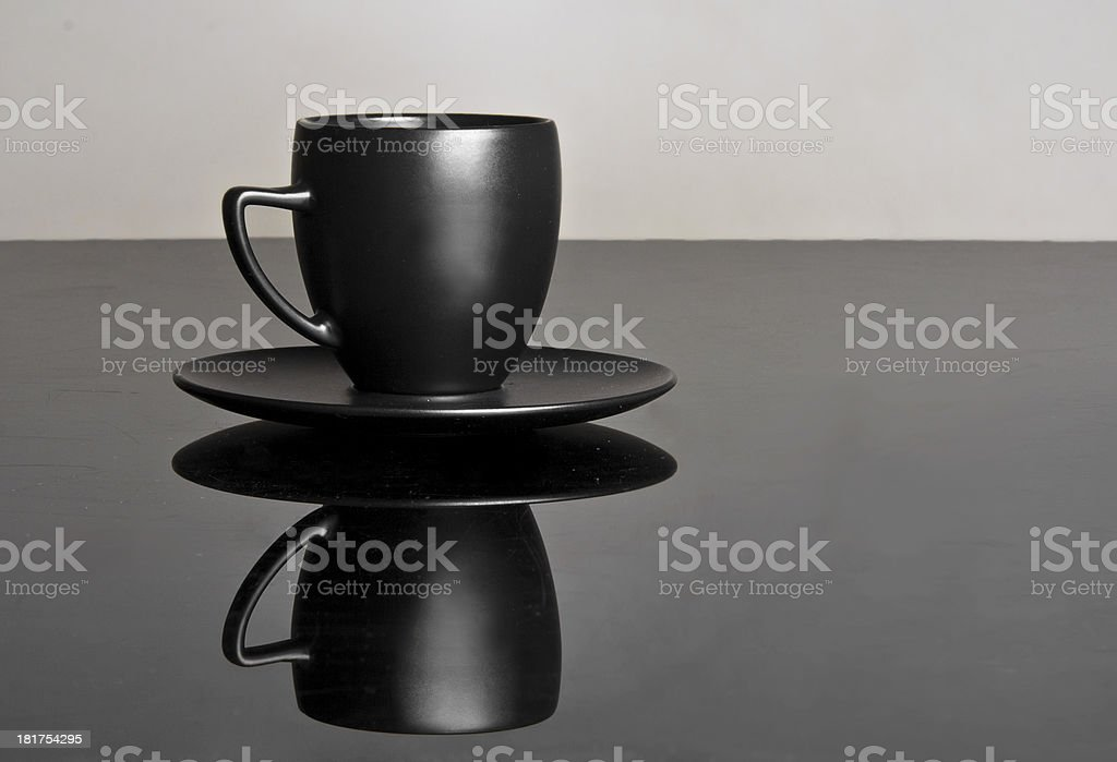 Beautifully designed black cup royalty-free stock photo