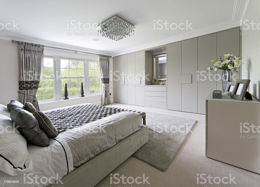 beautifully fitted wardrobes stock photo