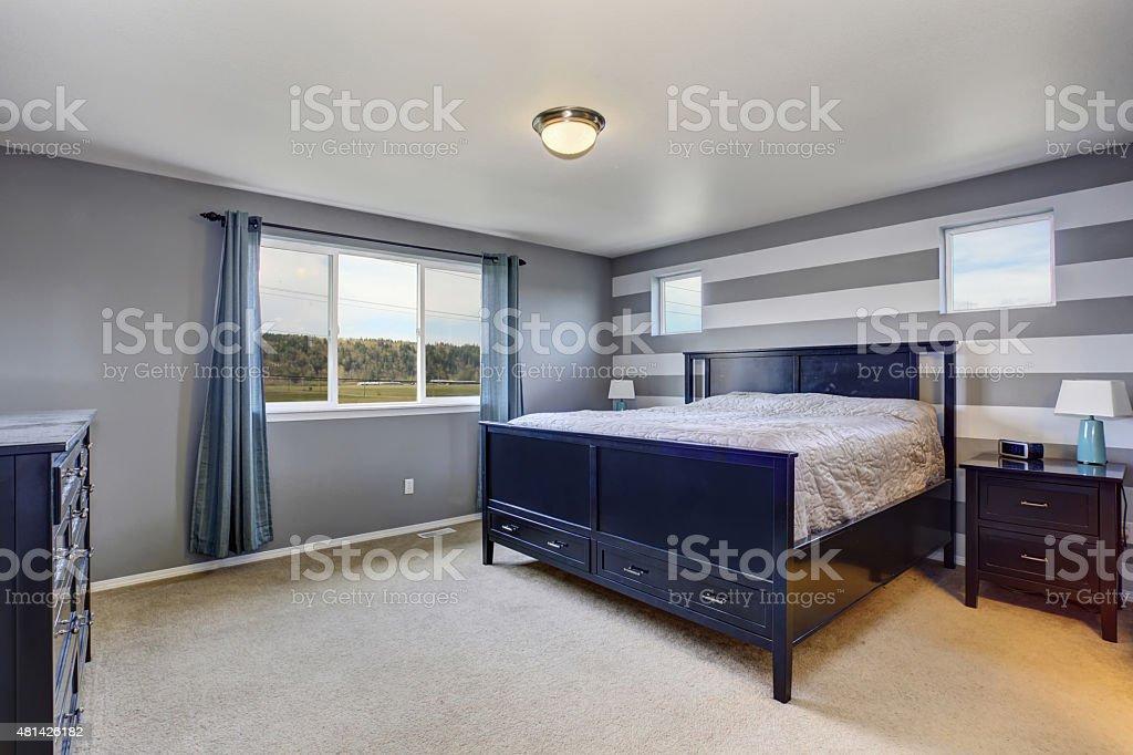 Pięknie Nowoczesnej Sypialni Z Szare ściany Usunięta
