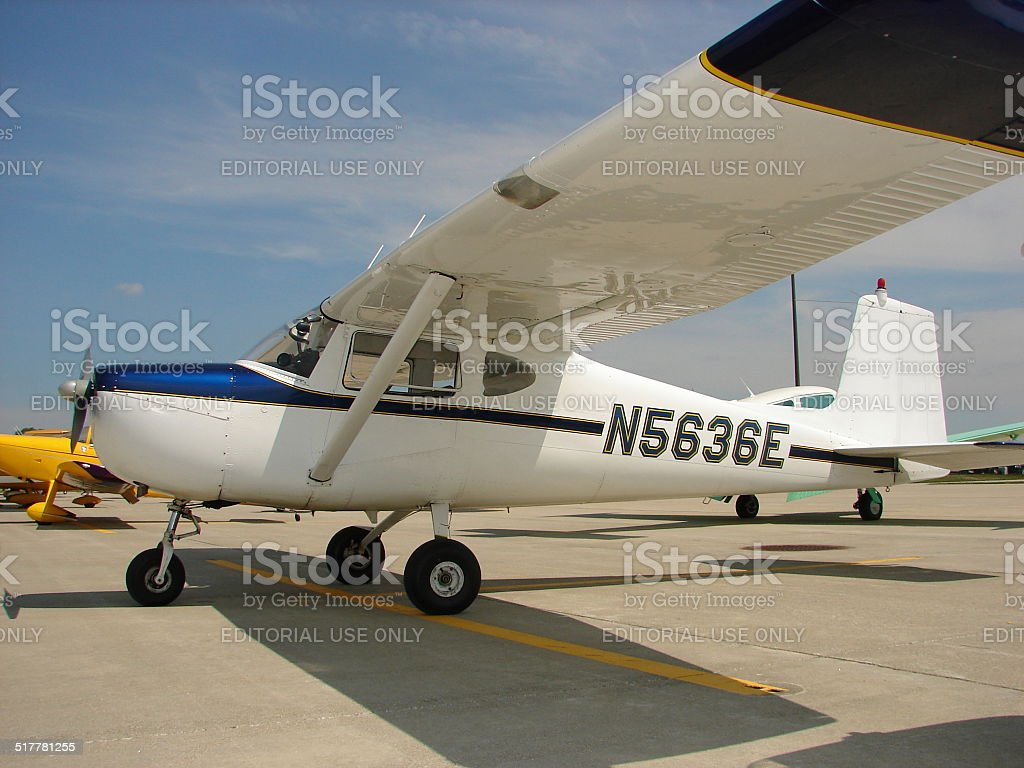 Beautifully restored 1960s Cessna 150 B model stock photo