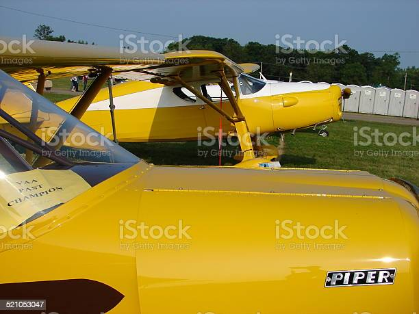 Beautifully restored antique 1930s Fairchild F24 private airplane.