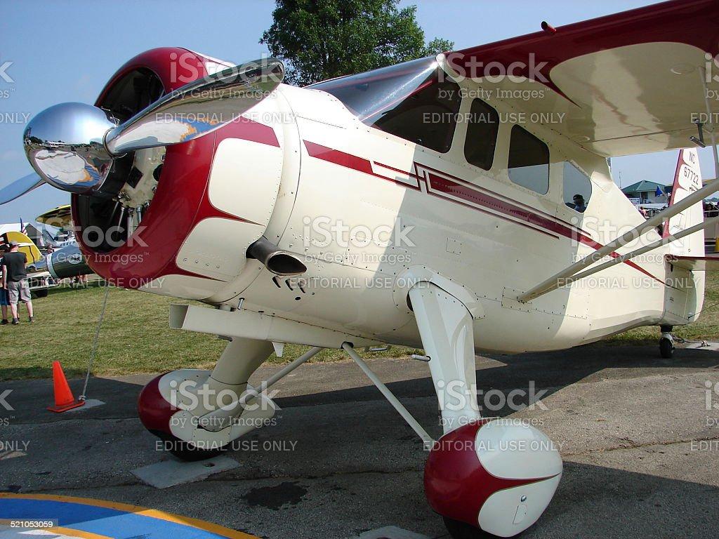Beautifully restored antique Howard DGA aircraft. stock photo