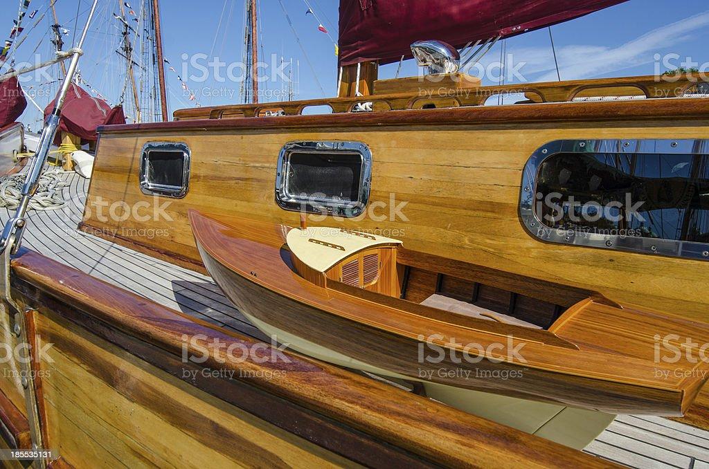 Beautifully restored classic sail boat royalty-free stock photo