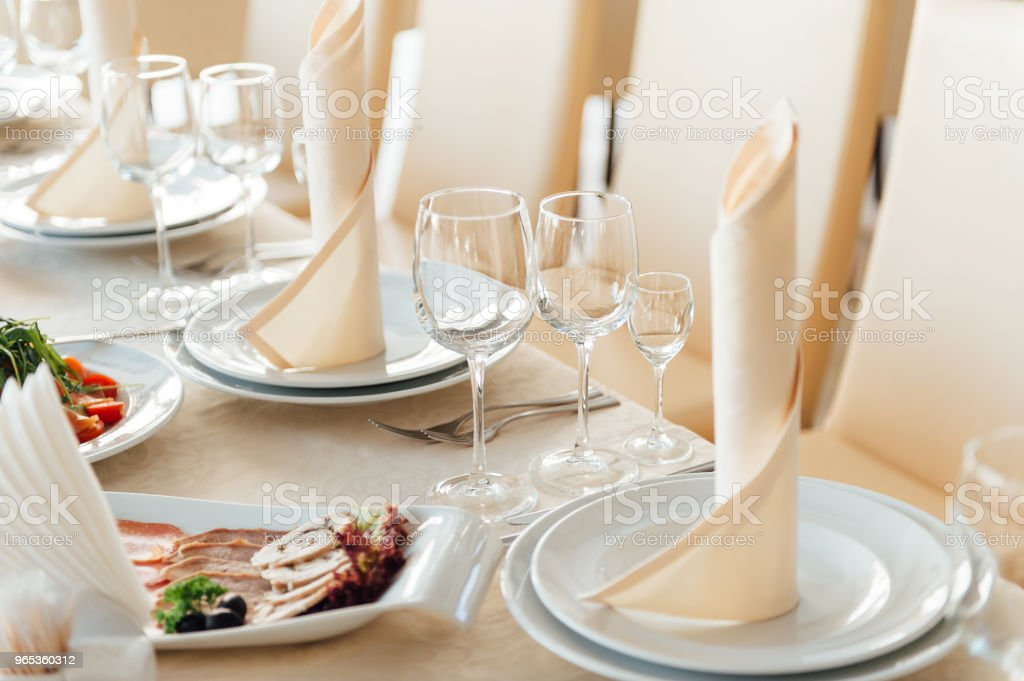 beautifully served table in a restaurant royalty-free stock photo