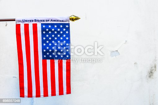 istock Beautifully star and striped United States of America flag 698557048