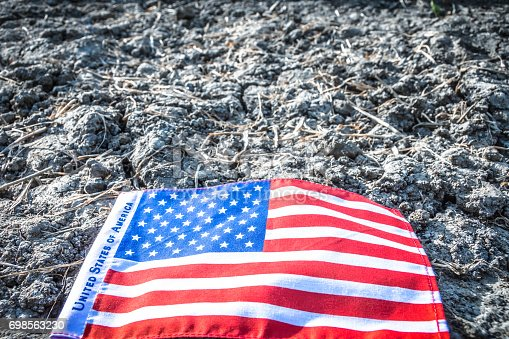 istock Beautifully star and striped United States of America flag 698563230