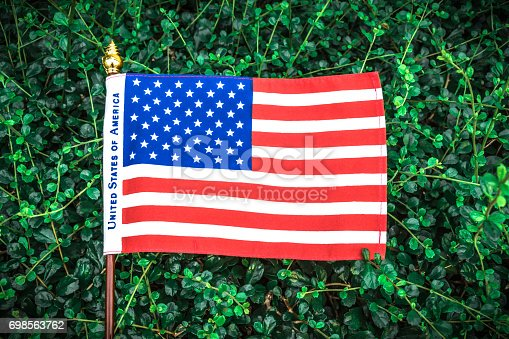 istock Beautifully star and striped United States of America flag 698563762