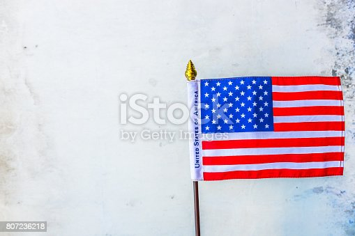 istock Beautifully star and striped United States of America flag 807236218