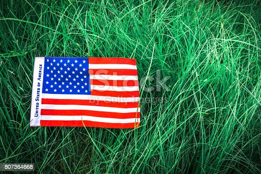 istock Beautifully star and striped United States of America flag 807364668