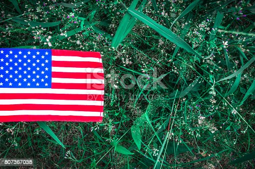 istock Beautifully star and striped United States of America flag 807367038