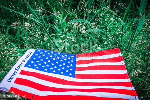 istock Beautifully star and striped United States of America flag 807368034