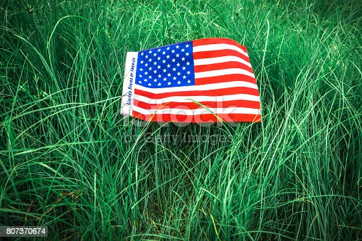 istock Beautifully star and striped United States of America flag 807370674