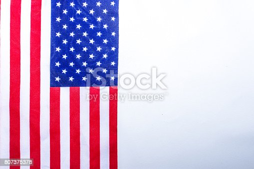 istock Beautifully star and striped United States of America flag 807375378