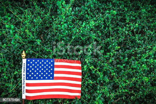 istock Beautifully star and striped United States of America flag 807375494