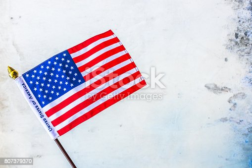istock Beautifully star and striped United States of America flag 807379370