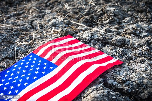 istock Beautifully star and striped United States of America flag 807384138