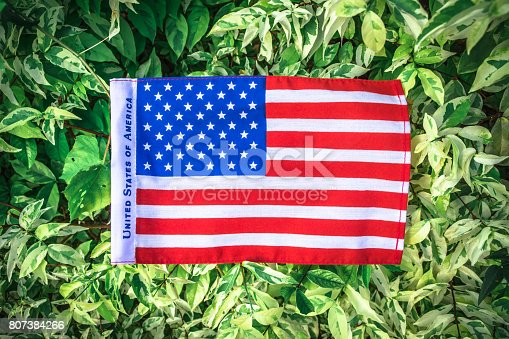 istock Beautifully star and striped United States of America flag 807384266