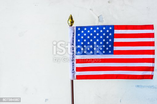 istock Beautifully star and striped United States of America flag 807384582