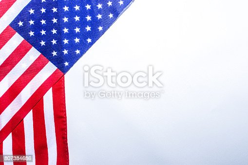 istock Beautifully star and striped United States of America flag 807384686