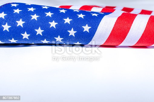 istock Beautifully star and striped United States of America flag 807387852