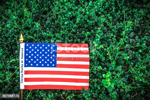 istock Beautifully star and striped United States of America flag 807388174