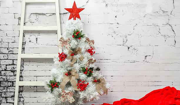 Beautifuly decorated christmas tree stock photo