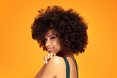 istock Beauty afro woman with glamour makeup. 1159267781